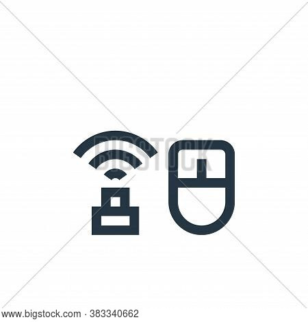 mouse icon isolated on white background from wireless technology collection. mouse icon trendy and m