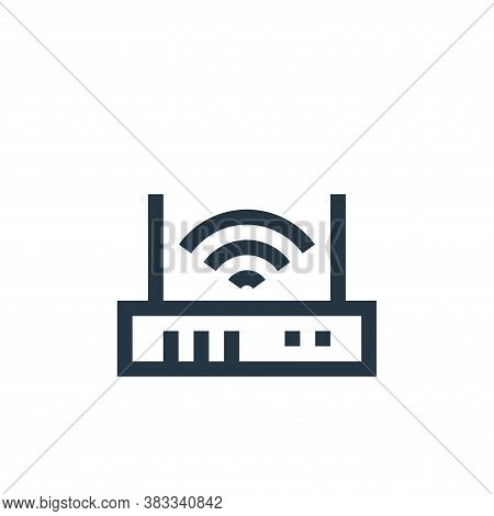 router icon isolated on white background from wireless technology collection. router icon trendy and