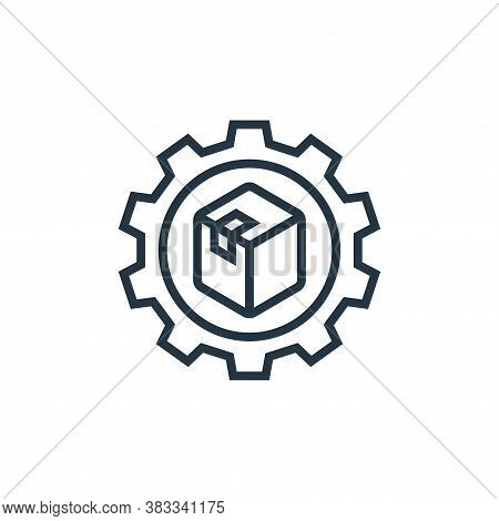 product development icon isolated on white background from business model canvas collection. product
