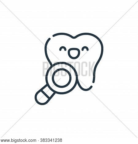 dental checkup icon isolated on white background from dentist collection. dental checkup icon trendy