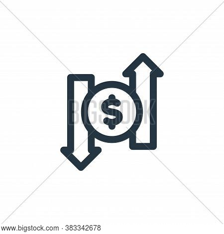 exchange icon isolated on white background from investment collection. exchange icon trendy and mode