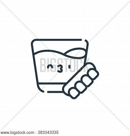 denture icon isolated on white background from dentist collection. denture icon trendy and modern de