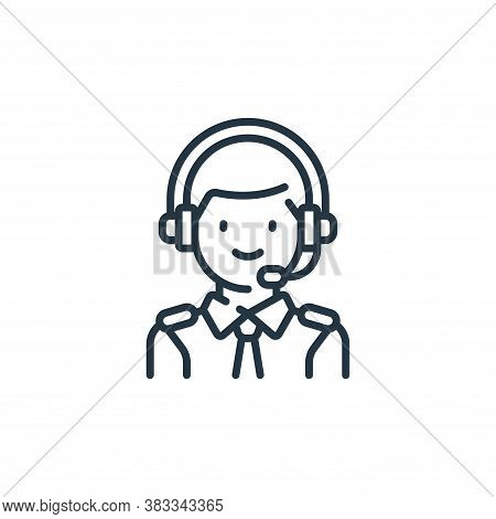pilot icon isolated on white background from aviation collection. pilot icon trendy and modern pilot