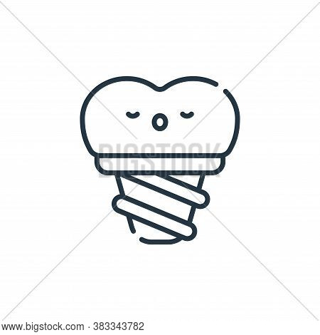 implant icon isolated on white background from dentist collection. implant icon trendy and modern im