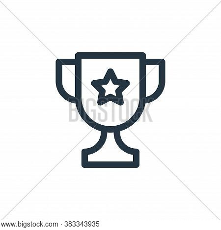 trophy icon isolated on white background from education collection. trophy icon trendy and modern tr