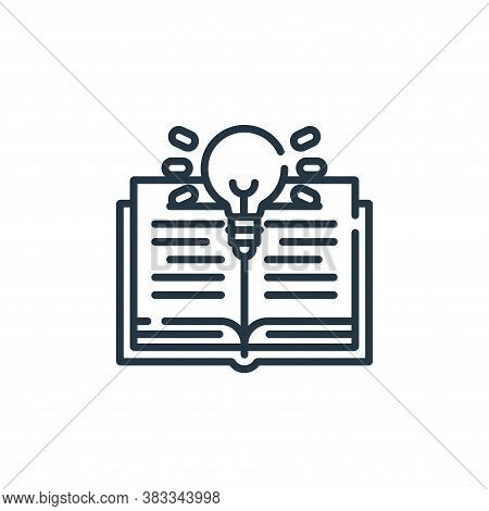 inspiration icon isolated on white background from education collection. inspiration icon trendy and