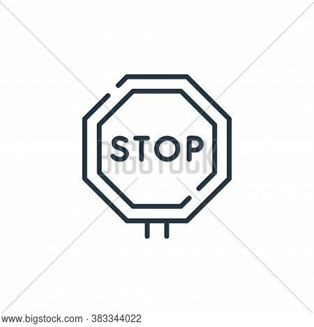stop icon isolated on white background from public transportation collection. stop icon trendy and m