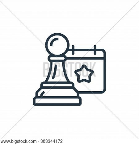 strategy icon isolated on white background from event management collection. strategy icon trendy an