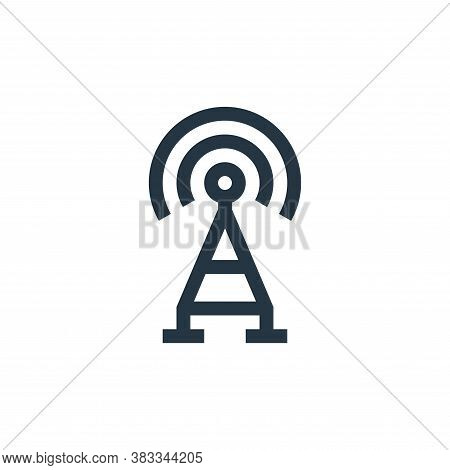 Broadcast icon isolated on white background from wireless technology collection. Broadcast icon tren