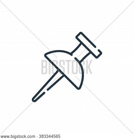 pin icon isolated on white background from location collection. pin icon trendy and modern pin symbo
