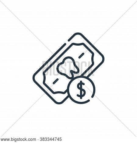 payment icon isolated on white background from dentist collection. payment icon trendy and modern pa