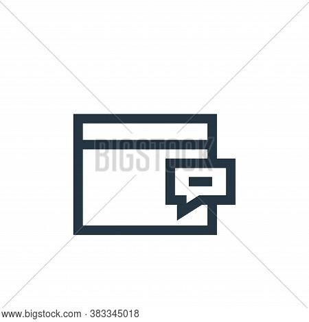 web icon isolated on white background from customer reviews collection. web icon trendy and modern w