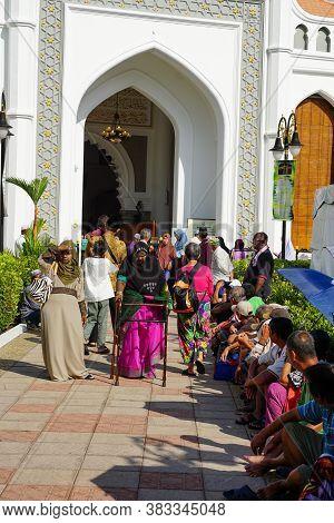 Georgetown, Penang/malaysia - Sep 12 2016: Women Come Out From Masjid Kapitan Keling.