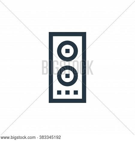 loudspeaker icon isolated on white background from wireless technology collection. loudspeaker icon