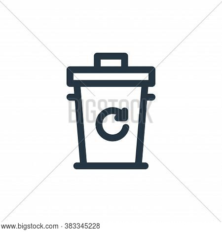recycle bin icon isolated on white background from sustainable energy collection. recycle bin icon t