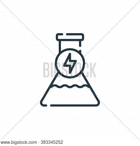 chemical reaction icon isolated on white background from sustainable energy collection. chemical rea