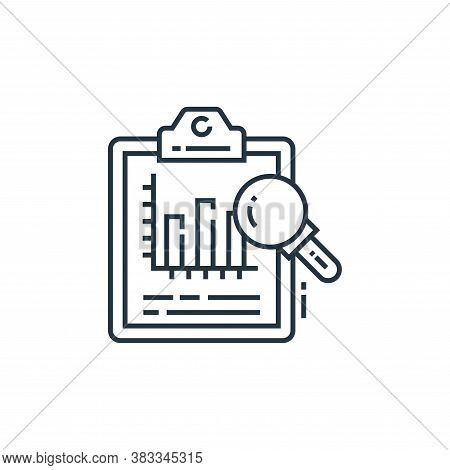 analysis icon isolated on white background from data analysis collection. analysis icon trendy and m