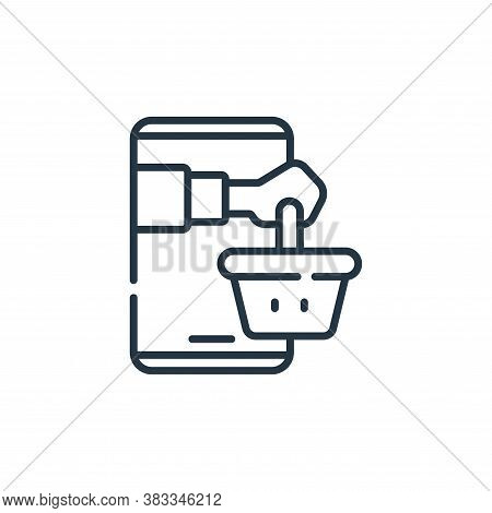 online supermarket icon isolated on white background from supermarket collection. online supermarket