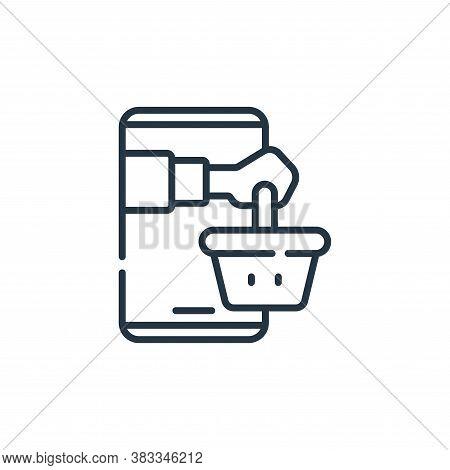 online supermarket icon isolated on white background from supermarket collection. online supermarket