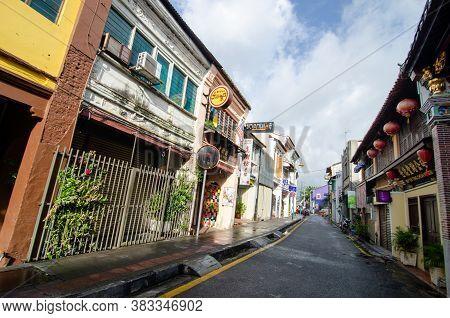 Georgetown, Penang/malaysia - Oct 23 2016: Unesco World Heritage Georgetown At Armenian Street.