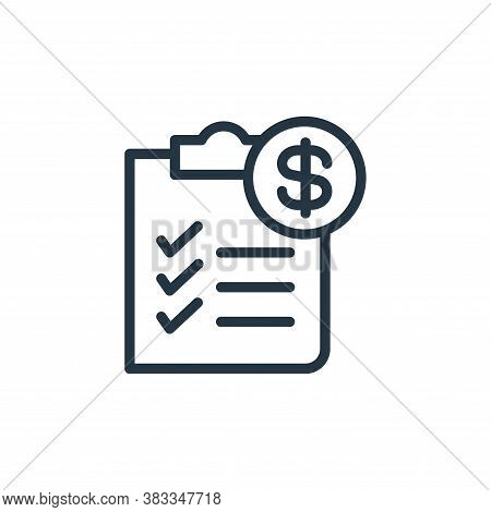 checklist icon isolated on white background from finance and business collection. checklist icon tre