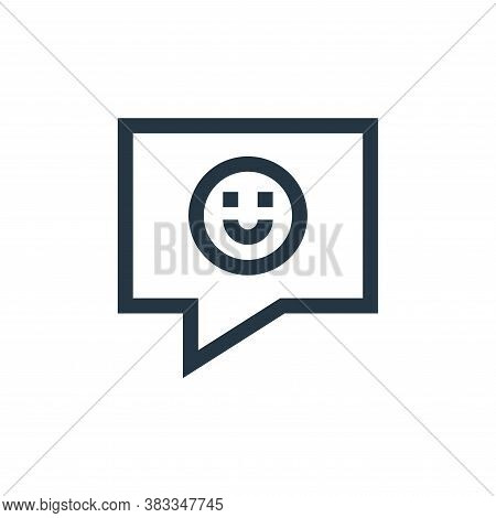 positive comment icon isolated on white background from customer reviews collection. positive commen