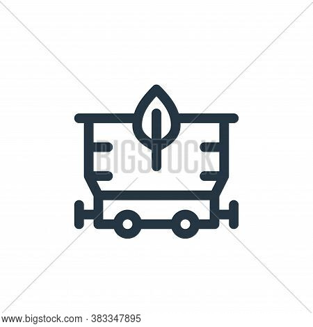 coal icon isolated on white background from sustainable energy collection. coal icon trendy and mode