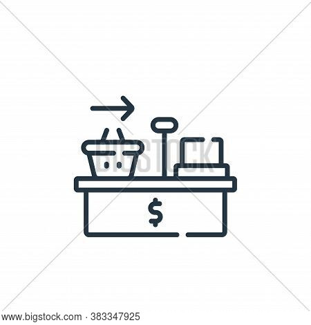 checkout icon isolated on white background from supermarket collection. checkout icon trendy and mod