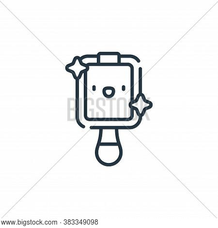 mirror icon isolated on white background from dentist collection. mirror icon trendy and modern mirr