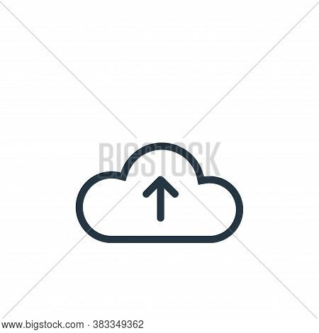 upload icon isolated on white background from ui collection. upload icon trendy and modern upload sy