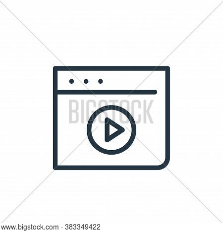 video recorder icon isolated on white background from finance and business collection. video recorde