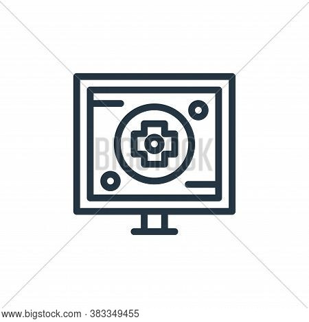 monitor icon isolated on white background from medical collection. monitor icon trendy and modern mo