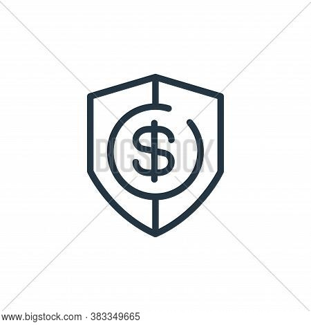 security icon isolated on white background from finance and business collection. security icon trend