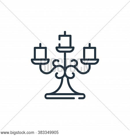 candlestick icon isolated on white background from party and celebration collection. candlestick ico