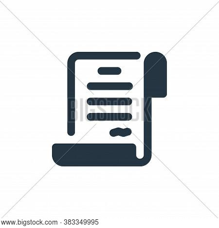 contract icon isolated on white background from economy collection. contract icon trendy and modern