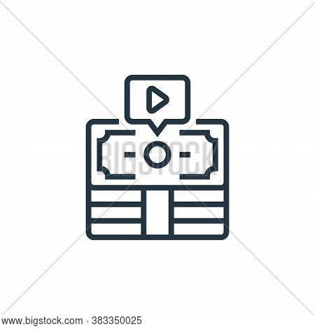 Revenue icon isolated on white background from business model canvas collection. Revenue icon trendy