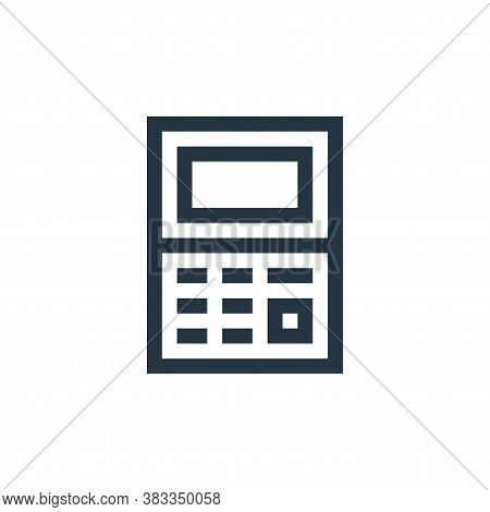 calculator icon isolated on white background from wireless technology collection. calculator icon tr