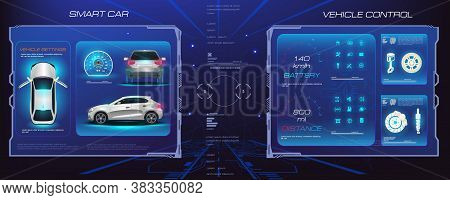 Holographic Interface With Parameters And Characteristics Of Passenger Car. Management And Diagnosti