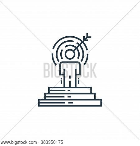 target icon isolated on white background from data analysis collection. target icon trendy and moder