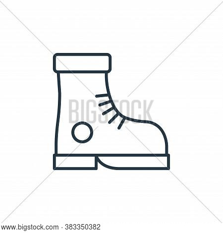 boot icon isolated on white background from fashion collection. boot icon trendy and modern boot sym