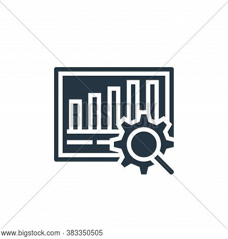 business analyst icon isolated on white background from business model canvas collection. business a