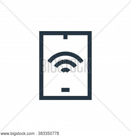 tablet icon isolated on white background from wireless technology collection. tablet icon trendy and