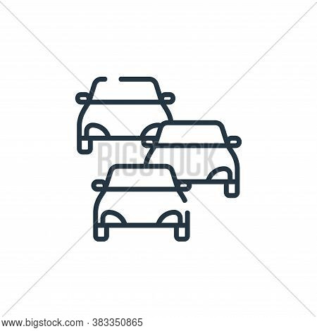 traffic jam icon isolated on white background from public transportation collection. traffic jam ico