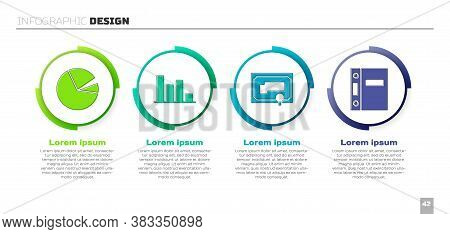 Set Pie Chart Infographic, Pie Chart Infographic, Certificate Template And Office Folders. Business