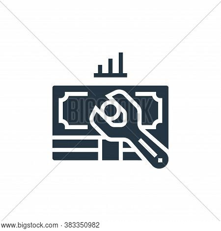 maintenance icon isolated on white background from business model canvas collection. maintenance ico