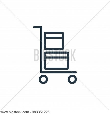 trolley icon isolated on white background from ecommerce and shopping collection. trolley icon trend