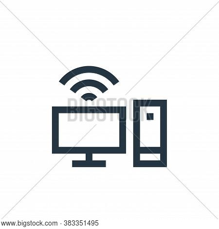 computer icon isolated on white background from wireless technology collection. computer icon trendy