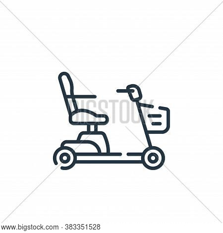 mobility scooter icon isolated on white background from supermarket collection. mobility scooter ico