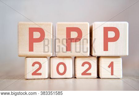 Text - Ppp 2021 On Wooden Cubes, On Wooden Background
