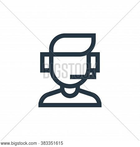 customer icon isolated on white background from customer reviews collection. customer icon trendy an